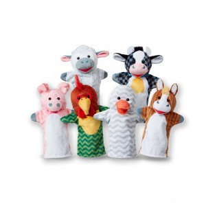 Melissa & Doug Barn Buddies Hand Puppets 6pc - Sale