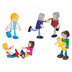 Melissa & Doug Wooden Flexible Figures - Family - Sale