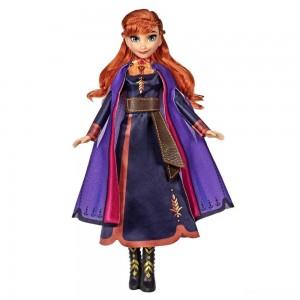 Disney Frozen 2 Singing Anna Fashion Doll with Music Wearing a Purple Dress - Sale
