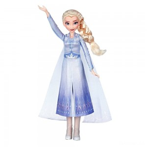 Disney Frozen 2 Singing Elsa Fashion Doll with Music - Blue - Sale