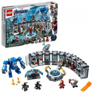 LEGO Marvel Avengers Iron Man Hall of Armor Superhero Mech Model with Tony Stark Action Figure 76125 - Sale