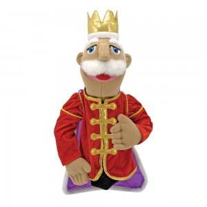 Melissa & Doug King Puppet With Detachable Wooden Rod for Animated Gestures - Sale