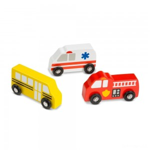Melissa & Doug Wooden Town Vehicles Set - Sale
