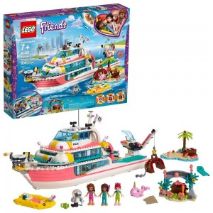 LEGO Friends Rescue Mission Boat 41381 Building Kit Sea Creatures for Creative Play 908pc - Sale