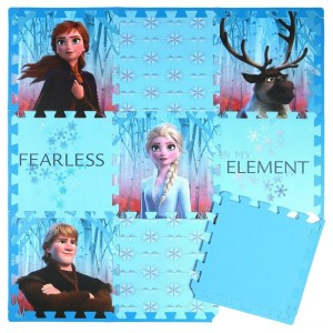 Disney Frozen 2 9pc Tile Foam Interlocking Fitness Mats - Sale