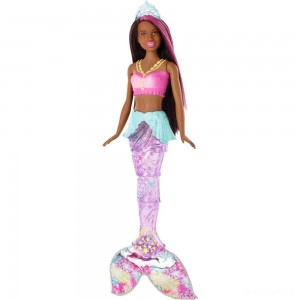 Barbie Dreamtopia Sparkle Lights Mermaid - Brunette - Sale
