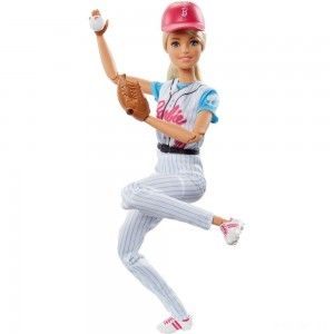 Barbie Made to Move Baseball Player Doll - Sale
