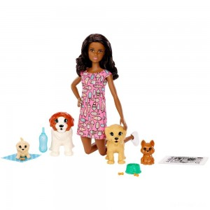 Barbie Doggy Daycare Nikki Doll & Pet - Sale