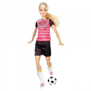 Barbie Made To Move Soccer Player Doll - Sale