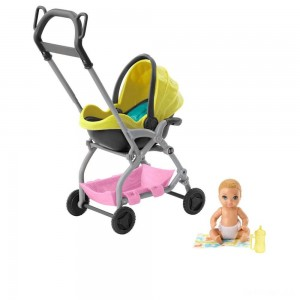 Barbie Skipper Babysitter Inc. Stroller and Baby Playset - Sale