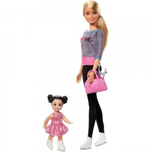 Barbie Ice-skating Coach Dolls & Playset - Sale