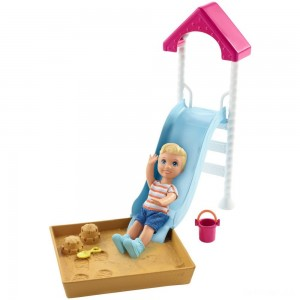 Barbie Skipper Babysitters Inc. Friend Doll and Playground Playset - Sale