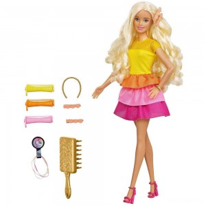 Barbie Ultimate Curls Doll and Playset - Sale