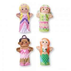 Melissa & Doug Storybook Friends Hand Puppets (Set of 4) - Princess, Fairy, Mermaid, and Ballerina - Sale