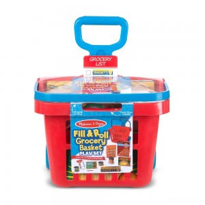 Melissa & Doug Fill & Roll Grocery Basket Playset - Sale