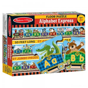 Melissa & Doug Alphabet Express Jumbo Jigsaw Floor Puzzle (27pc, 10 feet long) - Sale