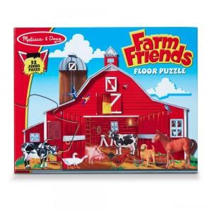 Melissa And Doug Farm Friends Jumbo Floor Puzzle 32pc - Sale
