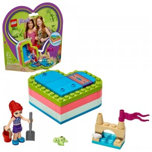 LEGO Friends Mia's Summer Heart Box 41388 Building Kit with Turtle Figure and Mia Mini Doll 85pc - Sale
