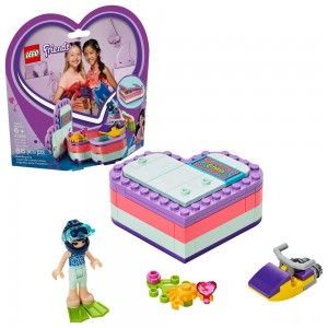 LEGO Friends Emma's Summer Heart Box 41385 Building Kit with Toy Scooter and Mini Doll 83pc - Sale