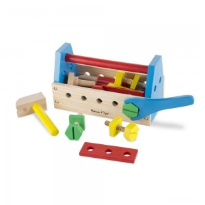 Melissa & Doug Take-Along Tool Kit Wooden Construction Toy (24pc) - Sale