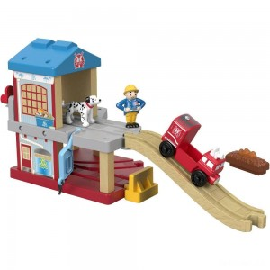 Fisher-Price Thomas & Friends Wood Eco Rescue Firehouse Set - Sale