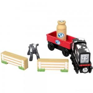 Fisher-Price Thomas & Friends Wood Diesel's Dairy Drop-off - Sale