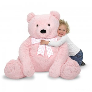 Melissa & Doug Jumbo Pink Teddy Bear Stuffed Animal (2 feet tall) - Sale