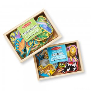 Melissa & Doug Wooden Magnets Set - Animals and Dinosaurs With 40 Wooden Magnets - Sale