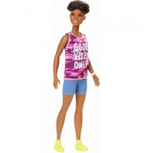Barbie Fashionistas Doll #128 Good Vibes Only - Sale