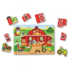 Melissa & Doug Around the Farm Sound Puzzle 8pc - Sale