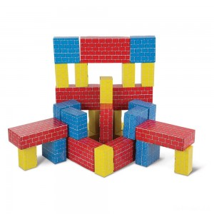 Melissa & Doug Lightweight Jumbo Cardboard Building Block Set - 40pc - Sale