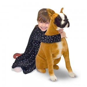 Melissa & Doug Giant Boxer - Lifelike Stuffed Animal Dog - Sale