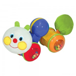 Melissa & Doug K's Kids Press and Go Inchworm Baby Toy - Rattles, Clicks, and Self Propels - Sale