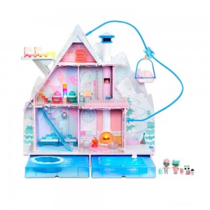 L.O.L. Surprise! Winter Disco Chalet Doll House with 95+ Surprises - Sale