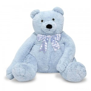 Melissa & Doug Jumbo 2' Teddy Bear - Blue - Sale