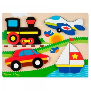 Melissa & Doug Chunky Jigsaw Puzzle - Vehicles 20pc - Sale