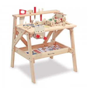 Melissa & Doug Solid Wood Project Workbench Play Building Set - Sale