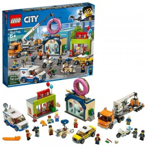 LEGO City Donut Shop Opening 60233 Store Opening Build and Play with Toy Vehicles and City Minifigures - Sale