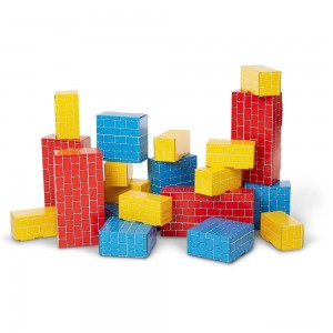 Melissa & Doug Extra-Thick Cardboard Building Blocks - 24 Blocks in 3 Sizes - Sale
