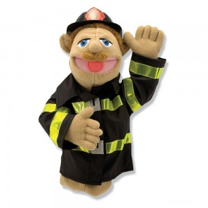 Melissa & Doug Firefighter Puppet With Detachable Wooden Rod - Sale