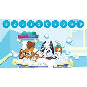 LeapStart® Pet Pal Puppies Math with Social Emotional Skills 30+ Page Activity Book Ages 3-5 yrs.
