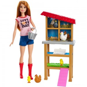 Barbie Chicken Farmer Doll & Playset - Sale