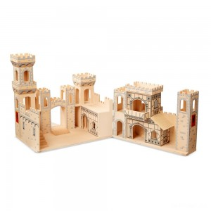 Melissa & Doug Deluxe Folding Medieval Wooden Castle - Hinged for Compact Storage - Sale