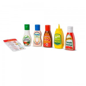 Melissa & Doug 6pc Favorite Condiments Play Food Set - Sale