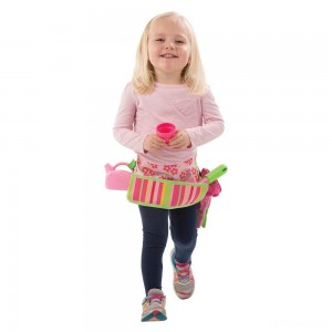 Melissa & Doug Sunny Patch Blossom Bright Garden Tool Belt Set With Gloves, Trowel, Watering Can, and Pot - Sale