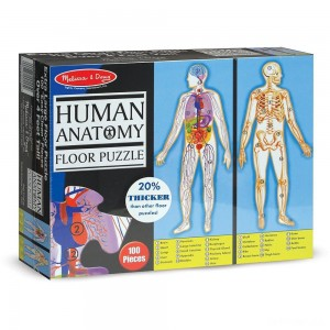 Melissa And Doug Human Anatomy 2-Sided Jumbo Floor Puzzle 100pc - Sale