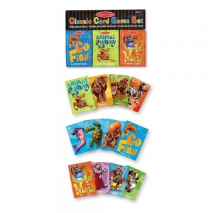 Melissa & Doug Classic Card Games Set - Old Maid, Go Fish, Rummy - Sale