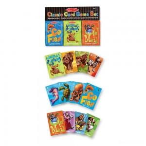 Melissa & Doug Classic Card Games Set - Old Maid, Go Fish, Rummy - Sale