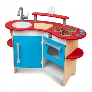 Melissa & Doug Cook's Corner Wooden Kitchen Pretend Play Set - Sale