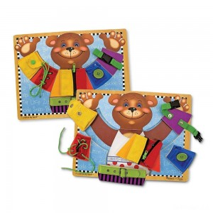 Melissa & Doug Basic Skills Board and Puzzle - Wooden Educational Toy - Sale